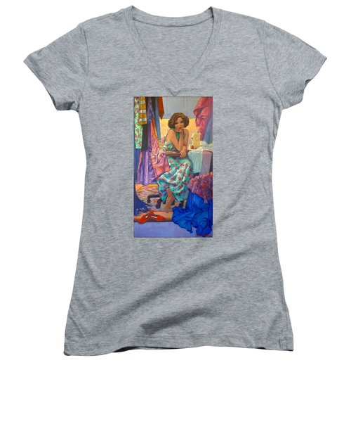 Designer Women's V-Neck (Athletic Fit)