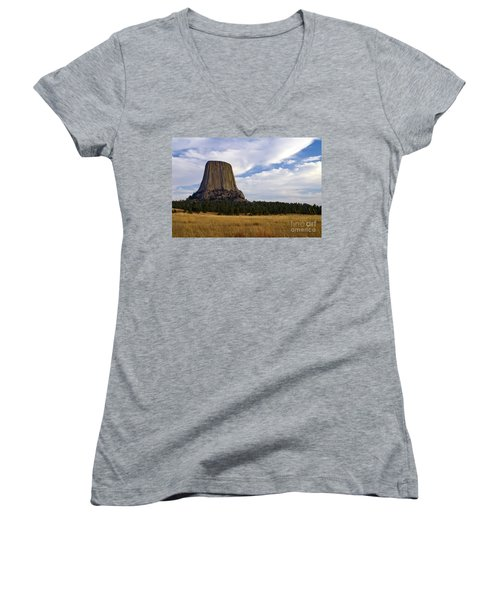 Devil's Tower No.2 Women's V-Neck T-Shirt