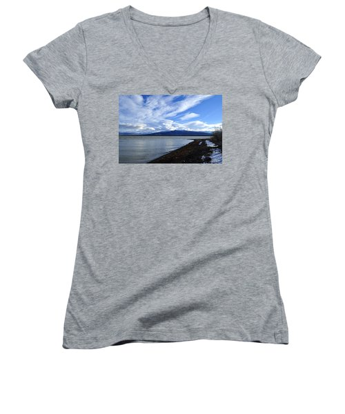Dezadeash Lake Women's V-Neck T-Shirt
