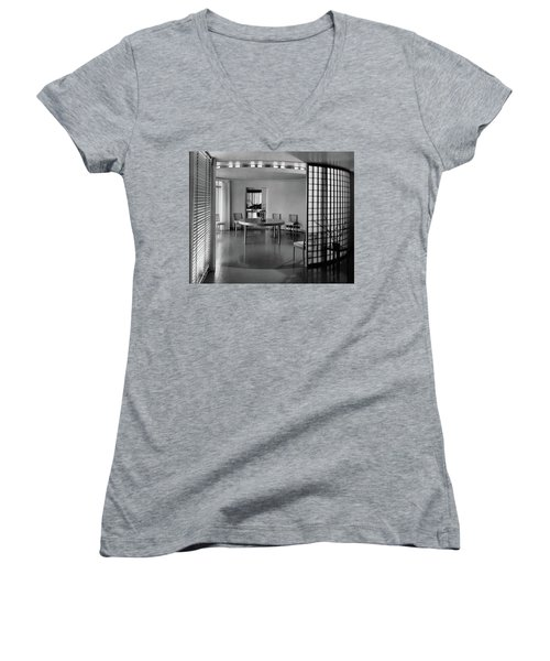 Dining Room In Mr. And Mrs. Alfred J. Bromfield Women's V-Neck
