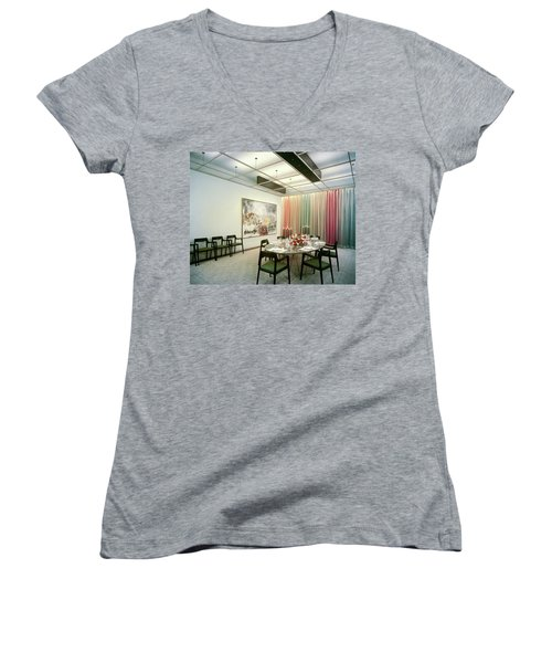 Dining Room In Mr. And Mrs. Williams A.m Women's V-Neck