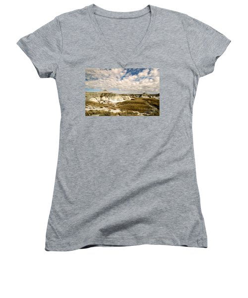 Dinosaur Badlands Women's V-Neck (Athletic Fit)