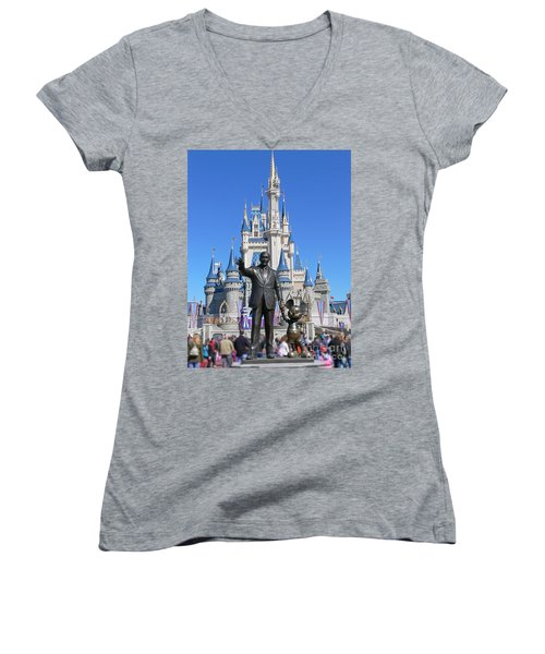 Disney And Mickey Women's V-Neck T-Shirt