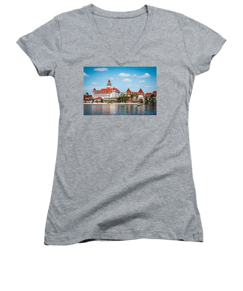 Disney's Grand Floridian Resort And Spa Women's V-Neck T-Shirt