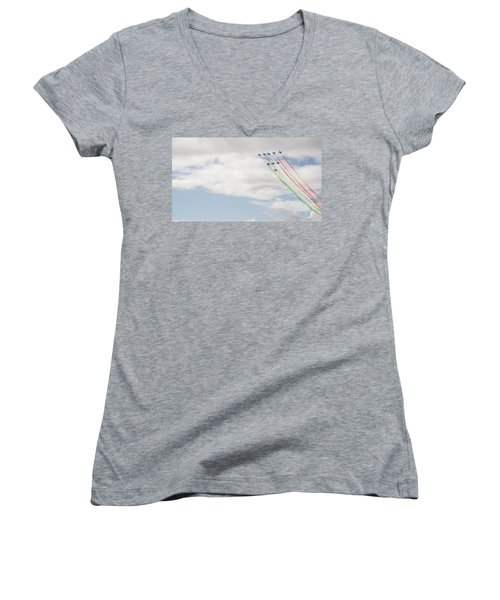Displaying The Flag Women's V-Neck T-Shirt