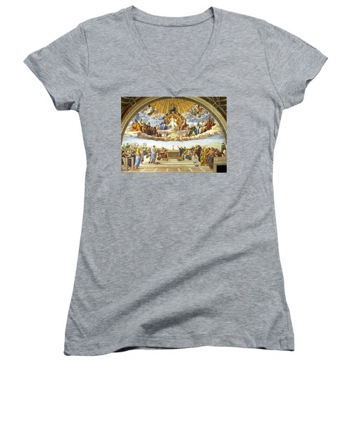 Disputation Of Holy Sacrament. Women's V-Neck