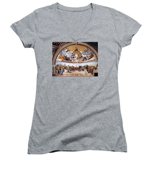 Disputation Of The Eucharist  Women's V-Neck (Athletic Fit)