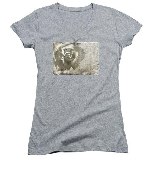 Women's V-Neck T-Shirt (Junior Cut) featuring the photograph Distant Dreams by Ellen Cotton