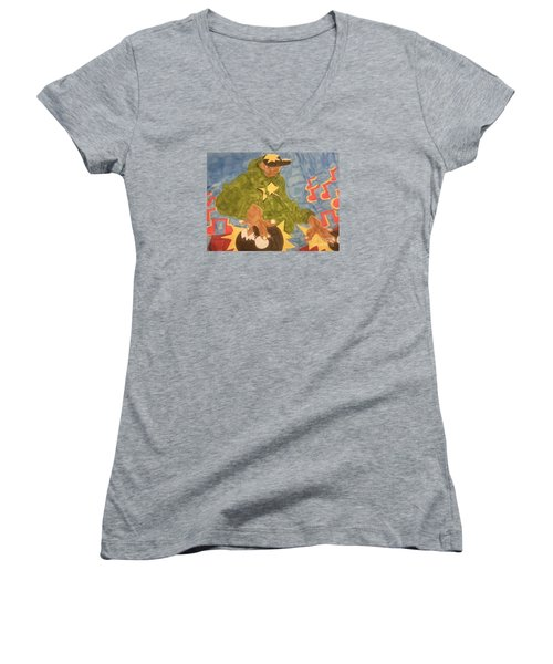 Dj Rapper Women's V-Neck T-Shirt