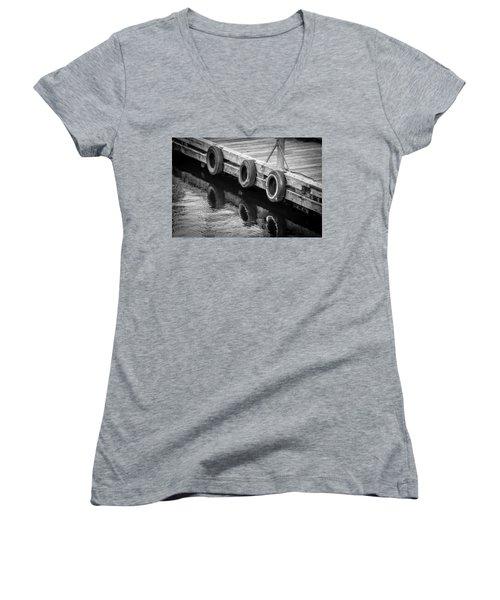 Dock Bumpers Women's V-Neck T-Shirt