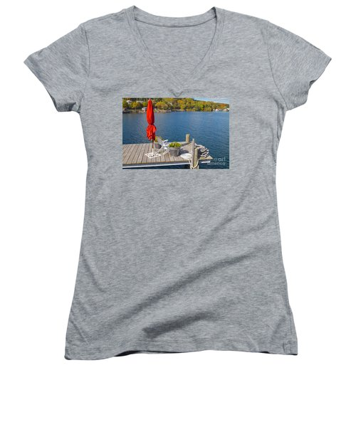 Dock By The Bay Women's V-Neck T-Shirt