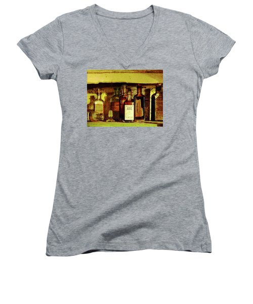 Women's V-Neck T-Shirt (Junior Cut) featuring the photograph Doctor - Syrup Of Ipecac by Susan Savad