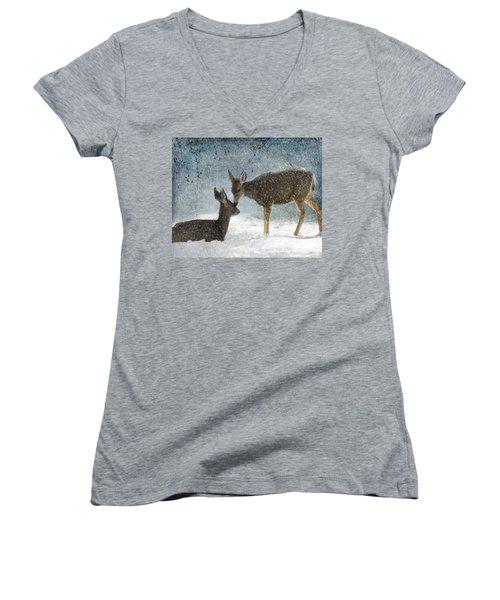 Doe A Deer Women's V-Neck