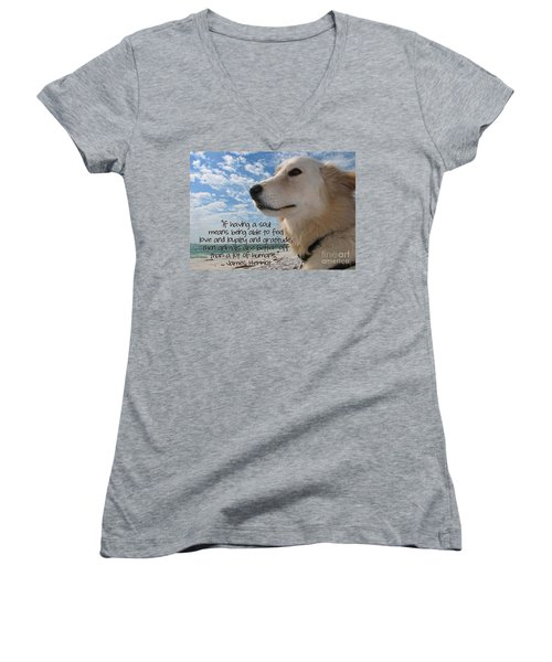 Doggie Soul Women's V-Neck (Athletic Fit)