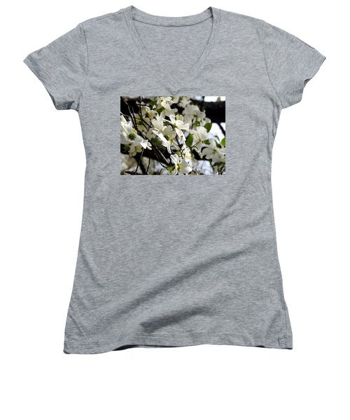 Dogwoods In The Spring Women's V-Neck (Athletic Fit)