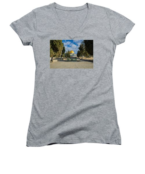 Dome Of The Rock Women's V-Neck