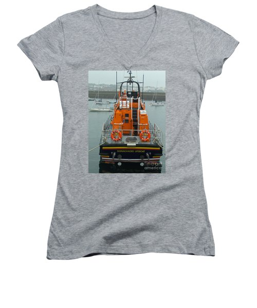 Donaghadee Rescue Lifeboat Women's V-Neck (Athletic Fit)