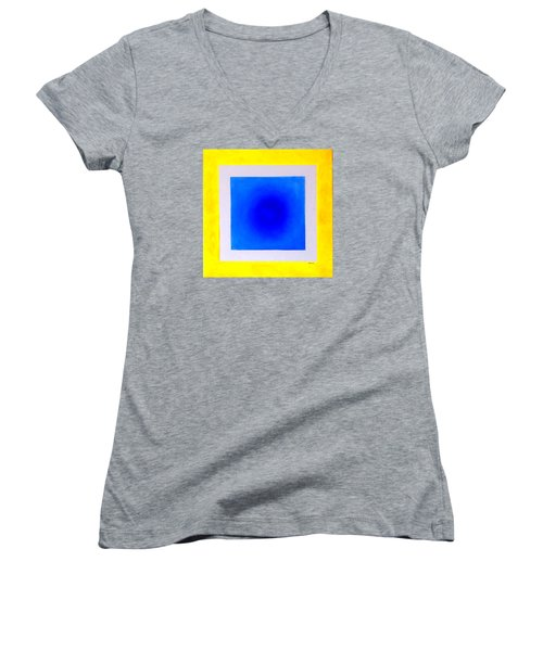Women's V-Neck T-Shirt (Junior Cut) featuring the painting Don't Conform by Thomas Gronowski