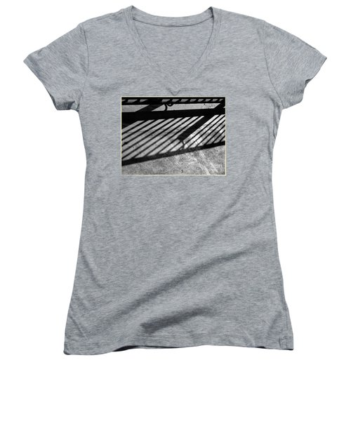 Women's V-Neck featuring the photograph Don't Fence Me In by Luc Van de Steeg