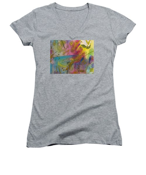 Doodle With Color Women's V-Neck