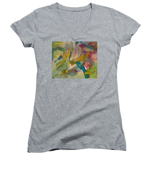 Doodles With Abstraction Women's V-Neck