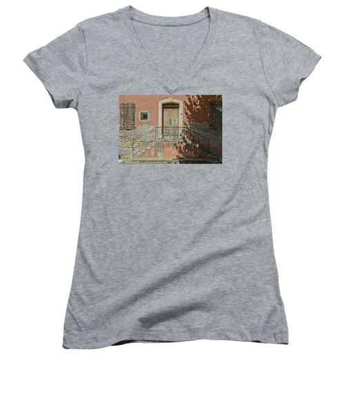 Door And Shadow Women's V-Neck