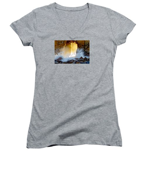 Doorway To The Pacific Ocean Women's V-Neck T-Shirt