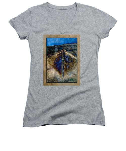 Women's V-Neck T-Shirt (Junior Cut) featuring the photograph Dory by WB Johnston