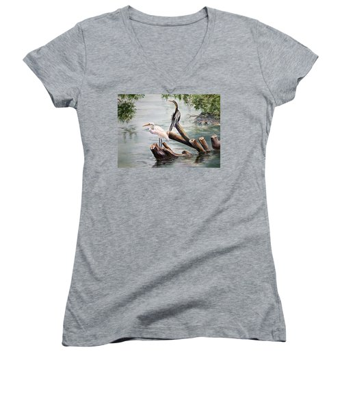Double Trouble Women's V-Neck T-Shirt