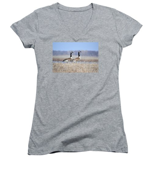 Double Vision Women's V-Neck T-Shirt