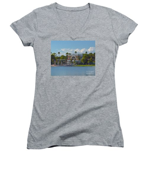 Down By The Station Women's V-Neck T-Shirt
