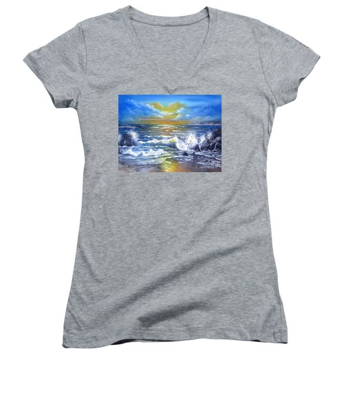 Down Came The Sun  Women's V-Neck T-Shirt