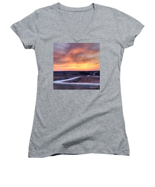 Down To The Rolling Hills Women's V-Neck