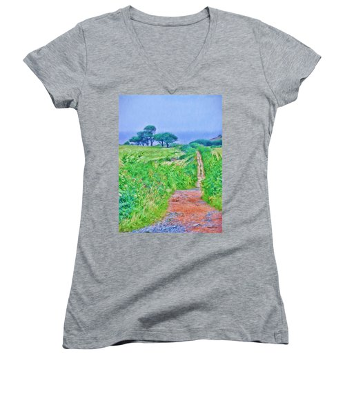 Down To The Sea Herm Island Women's V-Neck