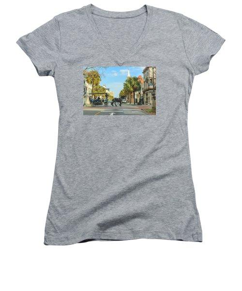 Downtown Charleston Stroll Women's V-Neck