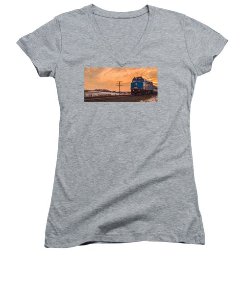 Downtown Train Women's V-Neck