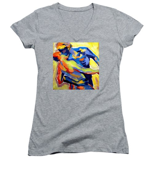 Dream Of Love Women's V-Neck T-Shirt (Junior Cut) by Helena Wierzbicki