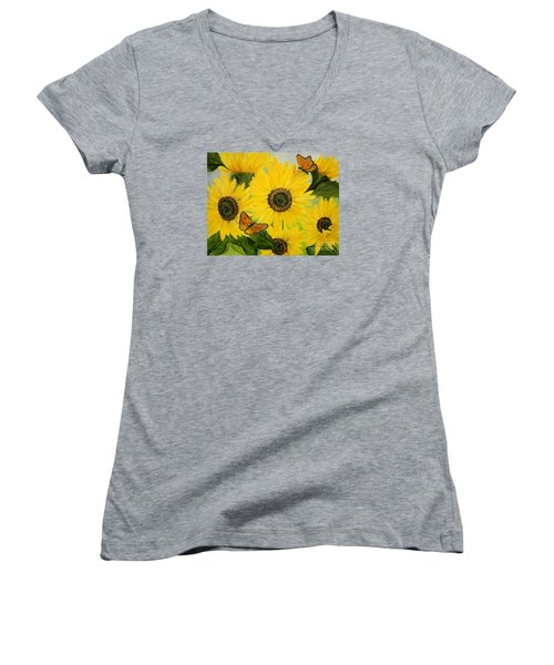Dreaming Of Summer Women's V-Neck T-Shirt (Junior Cut) by Carol Sweetwood