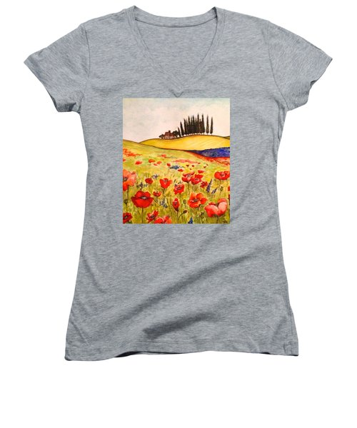 Dreaming Of Tuscany Women's V-Neck (Athletic Fit)