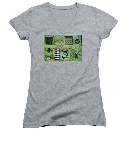 Dreams Collage Women's V-Neck (Athletic Fit)