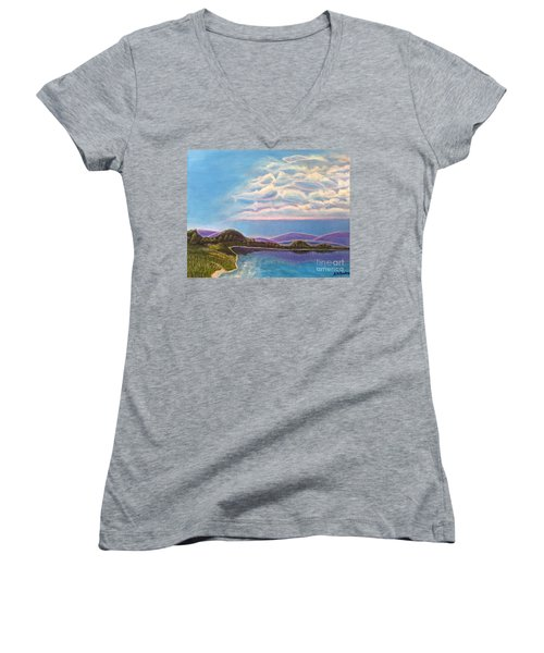 Dreamscapes Women's V-Neck (Athletic Fit)