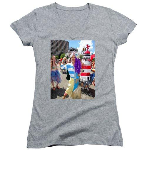 Women's V-Neck T-Shirt (Junior Cut) featuring the photograph Duality by Ed Weidman