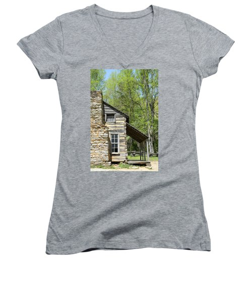 Early Appalachian Home Women's V-Neck (Athletic Fit)