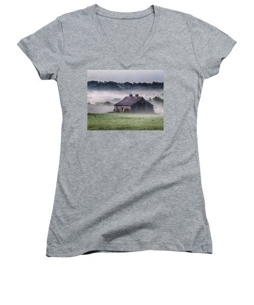 Early Morning In The Mist Standard Women's V-Neck (Athletic Fit)