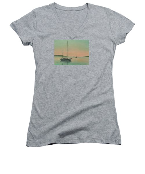 Early Morning Women's V-Neck (Athletic Fit)
