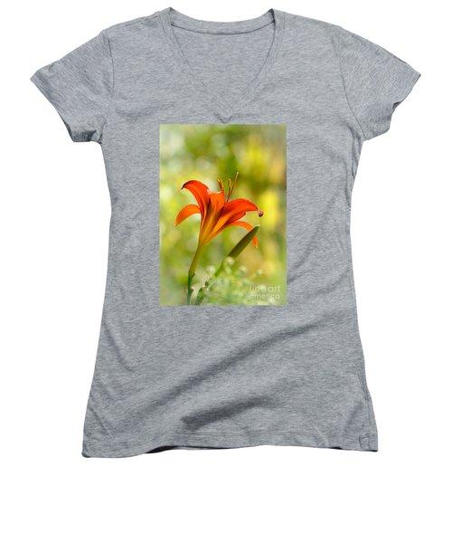 Early Morning Portrait Women's V-Neck T-Shirt