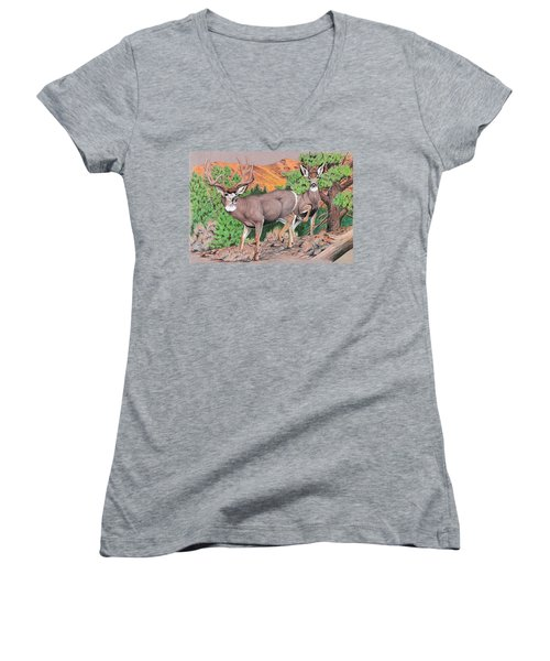 Early Morning Retreat Women's V-Neck (Athletic Fit)
