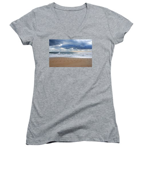 Earth's Layers - Jersey Shore Women's V-Neck