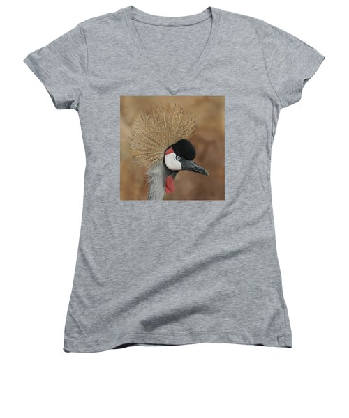 East African Crowned Crane Women's V-Neck T-Shirt