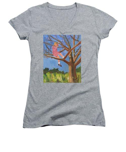 Easter In The Apple Tree Women's V-Neck T-Shirt